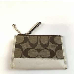 Coach Key Fob ID Credit Card Coin Purse Pouch